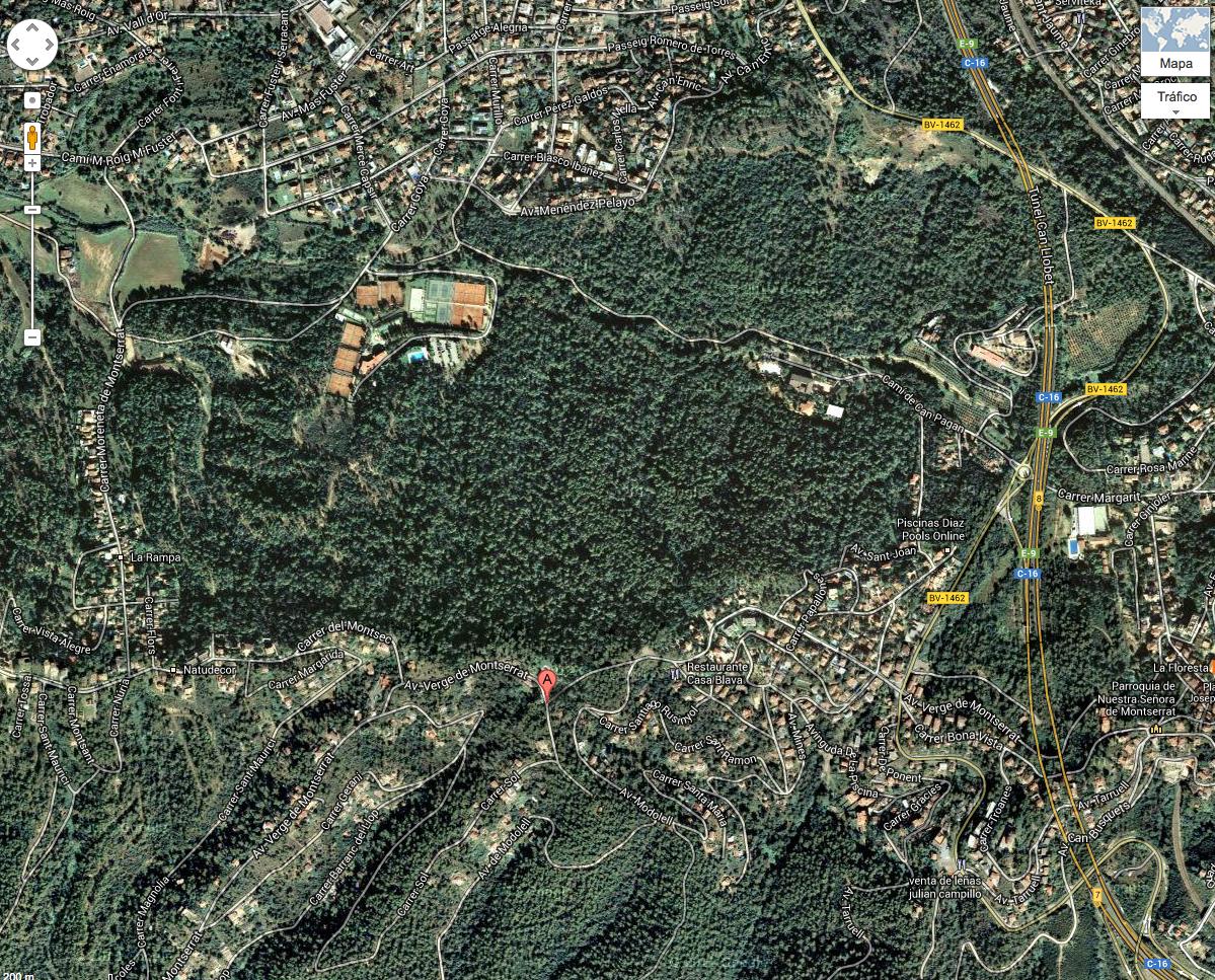 Construcci en un pinar en el municipio de sant cugat del - Cugat del valles ...